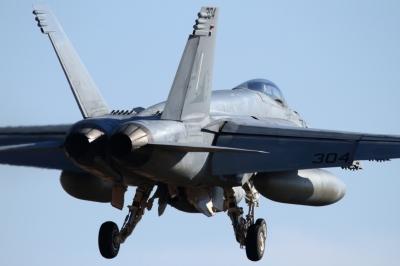 soku_33720.jpg :: 厚木 アメリカ海軍 乗り物 交通 航空機 飛行機 軍用機 艦載機 FA.18E