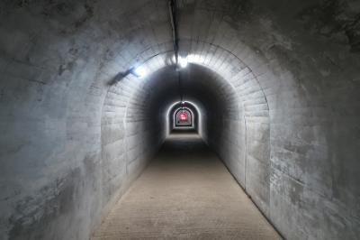soku_33728.jpg :: 乗り物 交通 道路 トンネル 鍾乳洞 接続路 上野村