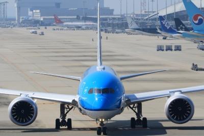soku_33755.jpg :: 2 乗り物 交通 航空機 飛行機 旅客機 関空 KLM