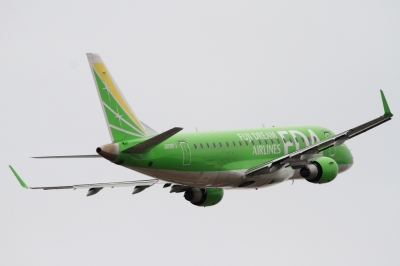 soku_33794.jpg :: FDA/8号機 TEAGREEN 乗り物 交通 航空機 飛行機 旅客機