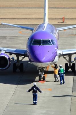 soku_33797.jpg :: FDA/6号機 PURPLE 乗り物 交通 航空機 飛行機 旅客機