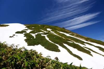soku_34031.jpg :: 風景 自然 山 尾根 残雪