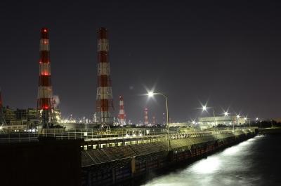 soku_34036.jpg :: 建築 建造物 工場 産業機械 夜景