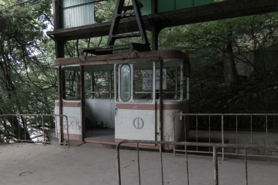 soku_34042.jpg :: 建築 建造物 廃墟 奥多摩湖 奥多摩湖ロープウェイ みとうさんぐち 駅
