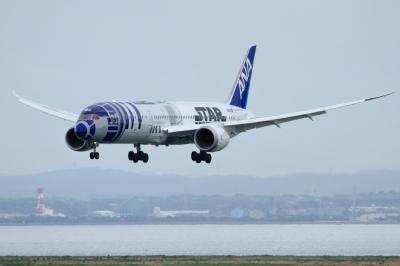 soku_34085.jpg :: ANA B787 HND 乗り物 交通 航空機 飛行機 旅客機 スターウォーズ R2D2