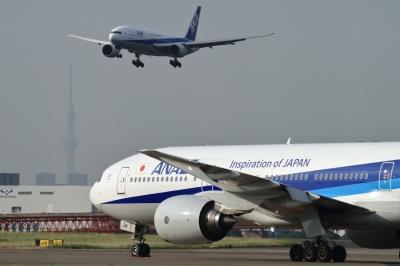 soku_34138.jpg :: ANA B777/HND 乗り物 交通 航空機 飛行機 旅客機