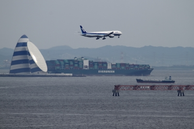 soku_34169.jpg :: ANA B777/東京ゲートブリッジ 乗り物 交通 航空機 飛行機 旅客機