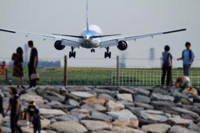 soku_34171.jpg :: ANA B777/城南島海浜公園 乗り物 交通 航空機 飛行機 旅客機