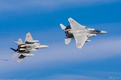 soku_34185.jpg :: 航空自衛隊 乗り物 交通 航空機 飛行機 軍用機 戦闘機 F.15J