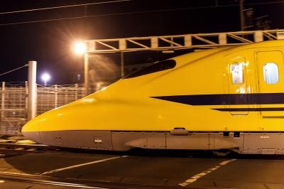 soku_34216.jpg :: JR浜松工場 ドクターイエロー T4 乗り物 交通 鉄道 新幹線