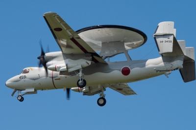 soku_34252.jpg :: 乗り物 交通 航空機 飛行機 軍用機 早期警戒機 E-2C ホークアイ 岐阜基地
