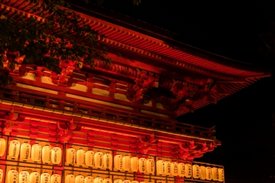 soku_34266.jpg :: 風景 街並み 祭りの風景 和 和風 提灯 色 光 ライトアップ