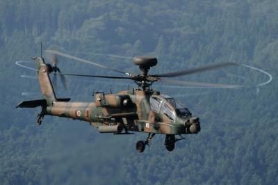 soku_34302.jpg :: 総火演予行 ヘリコプター 軍用機 陸上自衛隊 AH.64D アパッチ