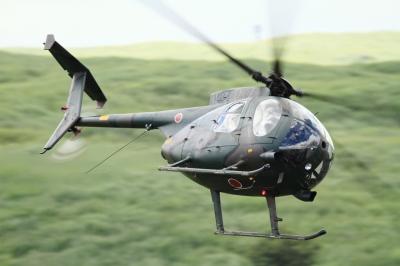 soku_34304.jpg :: 総火演予行 ヘリコプター 軍用機 陸上自衛隊 OH.6D