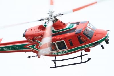 soku_34332.jpg :: 松島基地復興感謝イベント 仙台市消防局 ベル412 救難ヘリ ヘリコプター