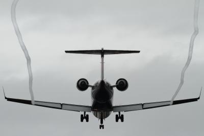 soku_34408.jpg :: 小松 CRJ700 乗り物 交通 航空機 飛行機 旅客機 ベイパー