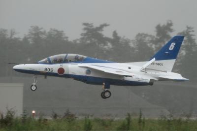 soku_34409.jpg :: 小松 ブルーインパルス T.4 到着 乗り物 交通 航空機 飛行機 軍用機 戦闘機