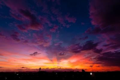 soku_34429.jpg :: 風景 自然 空 日没 マジックアワー 残照