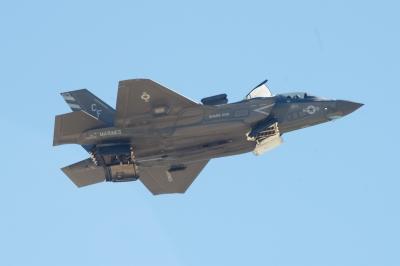 soku_34442.jpg :: 乗り物 交通 航空機 飛行機 軍用機 戦闘機 F.35B
