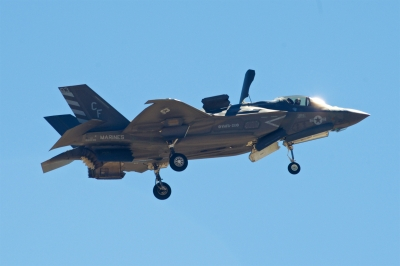 soku_34443.jpg :: 乗り物 交通 航空機 飛行機 軍用機 戦闘機 F-35B