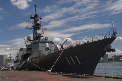 soku_34461.jpg :: 乗り物 交通 船 護衛艦 DD-111 おおなみ Onami 東京港 晴海埠頭
