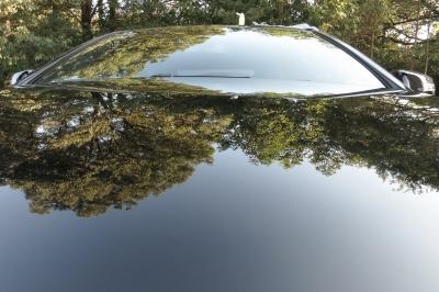 soku_34541.jpg :: 風景 郊外 車 ドライブ Cクラスクーペ カーラック仕上げ まるで鏡のよう