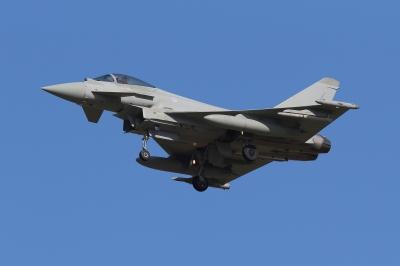soku_34603.jpg :: 乗り物 交通 航空機 飛行機 軍用機 戦闘機 ユーロファイター タイフーン