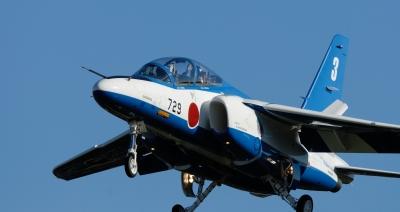 soku_34613.jpg :: 乗り物 交通 航空機 飛行機 軍用機 ブルーインパルス T-4