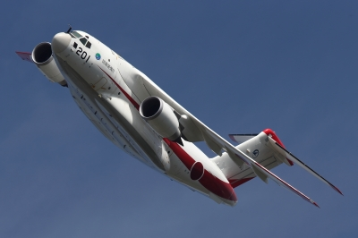 soku_34614.jpg :: 乗り物 交通 航空機 飛行機 軍用機 輸送機 C-2