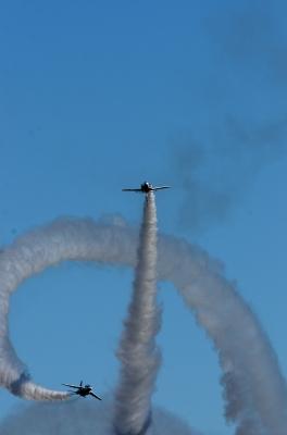 soku_34625.jpg :: 乗り物 交通 航空機 飛行機 軍用機 航空祭 入間航空祭 ブルーインパルス T.4