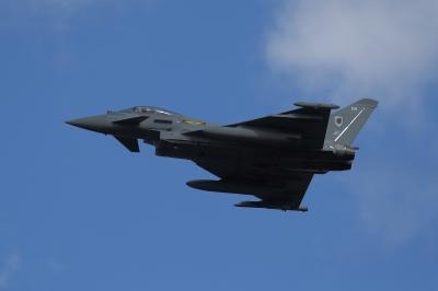 soku_34632.jpg :: 乗り物 交通 航空機 飛行機 軍用機 戦闘機 ユーロファイター タイフーン
