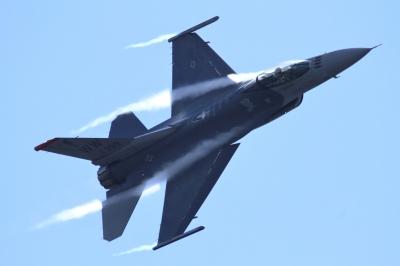 soku_34635.jpg :: 岐阜基地 乗り物 交通 航空機 飛行機 軍用機 戦闘機 F-16 予行