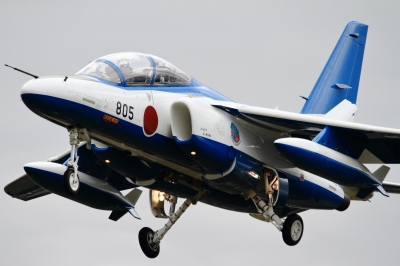soku_34643.jpg :: 入間基地飛来 乗り物 交通 航空機 飛行機 軍用機 ブルーインパルス T.4
