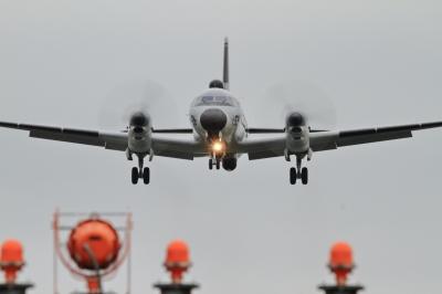 soku_34645.jpg :: 入間基地 乗り物 交通 航空機 飛行機 軍用機 電子戦機 YS-11EC