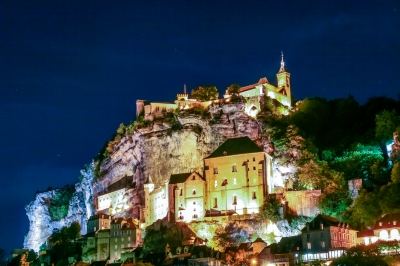 soku_34681.jpg :: ロカマドゥール フランス 風景 街並み 郊外の風景 外国 夜景