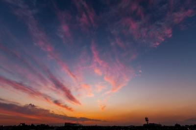 soku_34750.jpg :: 風景 自然 空 夕日 夕焼け 日没