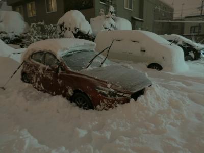 soku_34763.jpg :: 雪 アクセラ 風景 自然 雪景色 駐車場