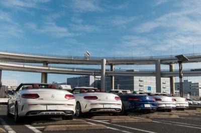 soku_34771.jpg :: 風景 郊外 車 ドライブ メルセデス 大黒PA Mercedes-Benz C-Class Cabriolet Sports