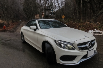 soku_34795.jpg :: 風景 郊外 車 ドライブ メルセデス Mercedes-Benz C-Class C180 Cabriolet Sports 栃木