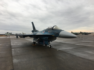 soku_34866.jpg :: 支援戦闘機 F-2B 乗り物 交通 航空機 飛行機 軍用機