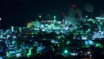 soku_34895.jpg :: 風景 街並み 都市の風景 夜景 工業地帯