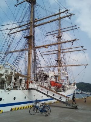 soku_34955.jpg :: 乗り物 交通 船 帆船 日本丸