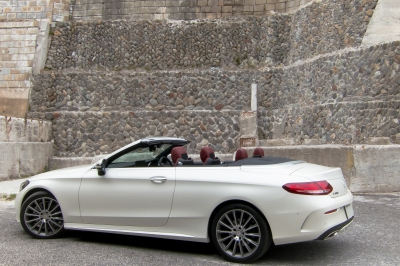 soku_34978.jpg :: 風景 郊外 車 ドライブ メルセデス Mercedes-Benz C-Class C180 Cabriolet Sports 謎の廃墟
