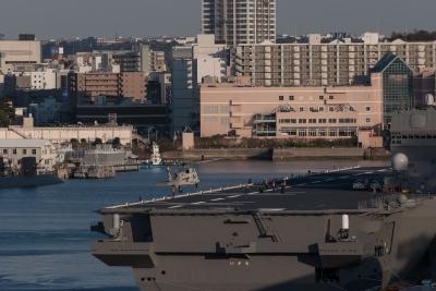 soku_34979.jpg :: 海上自衛隊 横須賀基地 逸見岸壁 DDH.183 いずも izumo SH.60K 哨戒ヘリ 着艦 初着艦 祝就役 フルサイズ