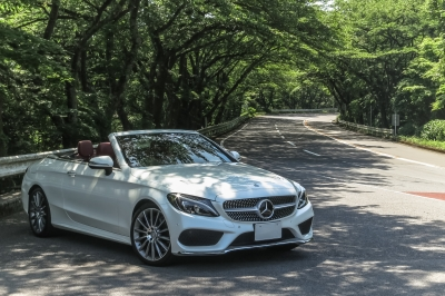 soku_35034.jpg :: C-Class Cabriolet SportC-Class Cabriolet 風景 郊外 車 ドライブ メルセデス Mercedes-Benz C-Class C180 Cabriolet Sports 箱根ターンパイク