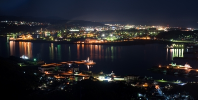 soku_35049.jpg :: 風景 街並み 郊外の風景 港町 港湾 夜景