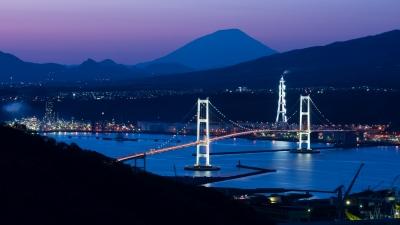 soku_35050.jpg :: 風景 街並み ランドマーク 橋 夜景