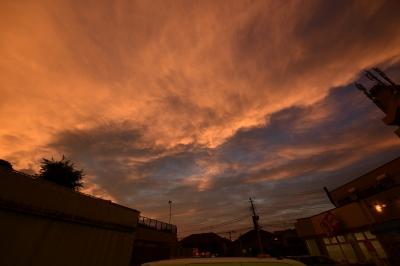 soku_35112.jpg :: 風景 自然 空 夕日 夕焼け 日没