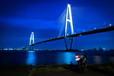 soku_35136.jpg :: CBR400RR M.O 名港トリトン バイク あんこ 夜景
