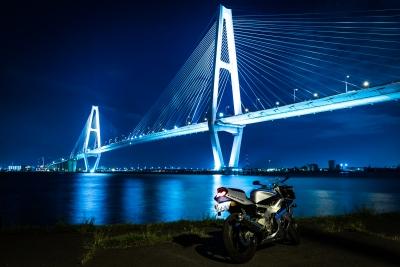 soku_35137.jpg :: CBR400RR M.O 名港トリトン バイク あんこ 夜景